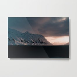 Svalbard Sunset Metal Print