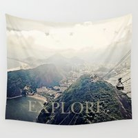 explore Wall Tapestries featuring explore. by inourgardentoo