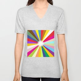 Bright Ray Background Unisex V-Neck