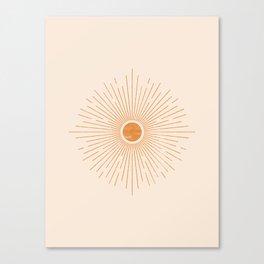 Sunburst Rays Canvas Print