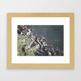 Rocky Riverbed Framed Art Print