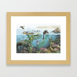 Over-Under Kelp Forests Framed Art Print