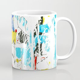 Yellow and Red Öl auf Leinwand Coffee Mug