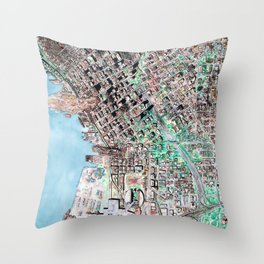 The Seattle Doomsday Map Throw Pillow