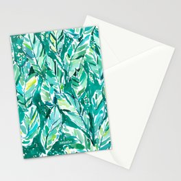 BANANA LEAF JUNGLE Green Tropical Stationery Cards