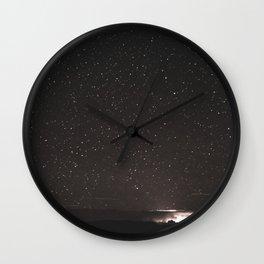 Starry Summer Night in Arizona Wall Clock