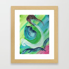 Half Crane Framed Art Print