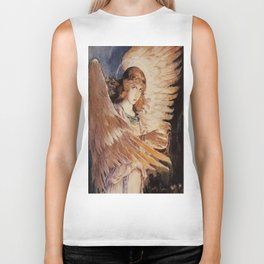 Angel With A Lamp by Victor Vasnetsov Biker Tank