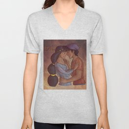 Firey Love Unisex V-Neck