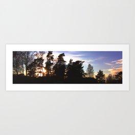 Sunset Trees Art Print