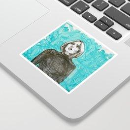 Mixed media portrait Sticker