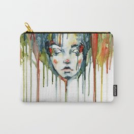 Portrait in paint stains Carry-All Pouch