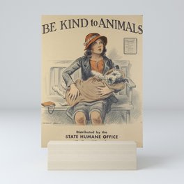 Be Kind To Animals 4 Mini Art Print