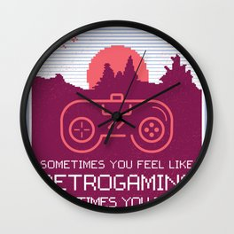 Retro Gamer Wall Clock