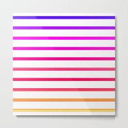 Warm lines Metal Print