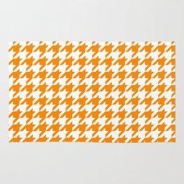 Orange: Houndstooth Checkered Pattern Rug