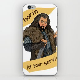 King Dwarf at Your Service iPhone Skin