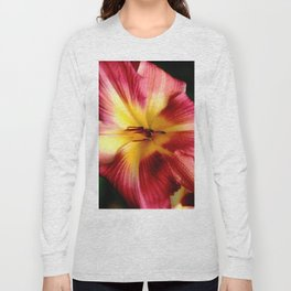 Maroon Daylily Long Sleeve T-shirt