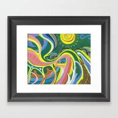 Rise to the Sun Framed Art Print
