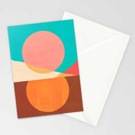 Abstraction_SUN_MOON_REFLECTION_DAY_NIGHT_POP_ART_M2007A Stationery Cards