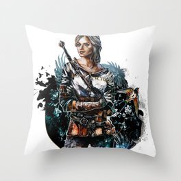 Ciri 2 - The Witcher Wild Hunt  Throw Pillow