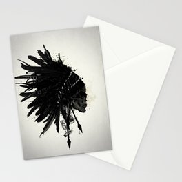 Warbonnet Skull Stationery Cards