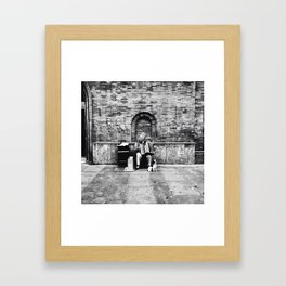 She's a lady in the streets Framed Art Print