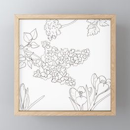 Flora of Fun - Color or Paint Your Own! Framed Mini Art Print