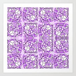 Abstract purple layers Art Print