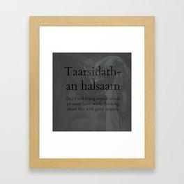 Taarsidath-an Halsaam Framed Art Print