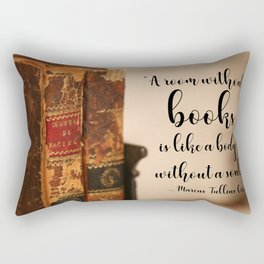 A room without books Rectangular Pillow