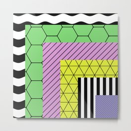 Go Bigger (Abstract, geometric, pastel designs) Metal Print