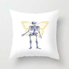 Skeleton Fairy Throw Pillow