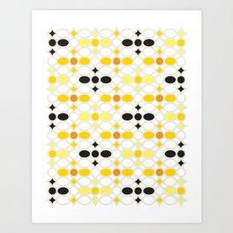 Stone Wall (Cockatoo Yellow) Art Print