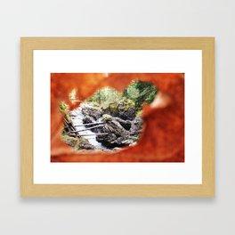 Leaf Frame Framed Art Print
