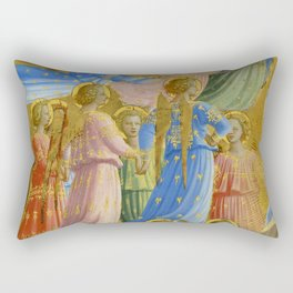 """Fra Angelico (Guido di Pietro) """"The Dormition and Assumption of the Virgin"""" (4) Rectangular Pillow"""