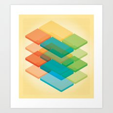 Color Cubes 2 Art Print