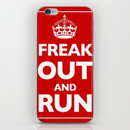 Keep Calm and Carry On Parody Red iPhone Skin
