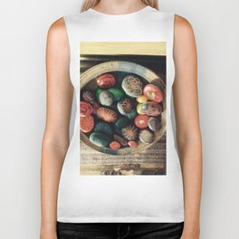 Rock art in ceramic bowl Biker Tank