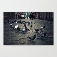 Street Fight Canvas Print