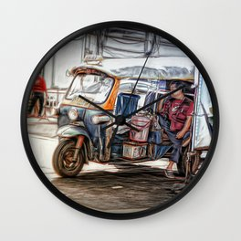 Waiting For a Fare.. Wall Clock