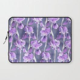 Simple Iris Pattern in Pastel Purple Laptop Sleeve