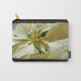Pale Yellow Poinsettia 1 Blank P4F0 Carry-All Pouch