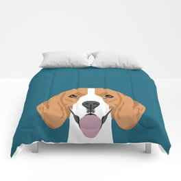Lenon - Beagle gifts for pet owners and dog person with a beagle Comforters