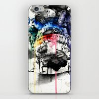 calcifer iPhone & iPod Skins featuring Howl's Moving Castle by Sandra Ink
