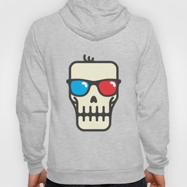 Line skull with 3D glasses Hoody