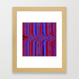 red and blue flowing Framed Art Print