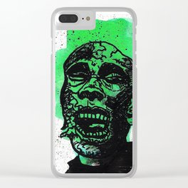 Green Zombie Clear iPhone Case
