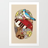 regular show Art Prints featuring Regular Show by NaturalPop
