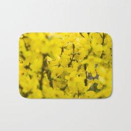 Yellow spring blooming Bath Mat